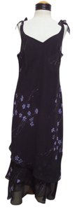 Evan Picone Floral Print Sleeveless Dress