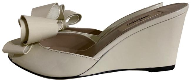 Item - Ivory Couture Patent Leather Sandals Wedges Size US 5.5 Narrow (Aa, N)
