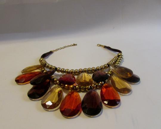 "Joan Rivers Joan Rivers 16"" Double Strand Amber Bib Necklace w/3"" Extender"