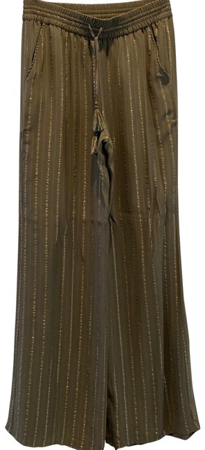 Item - Green Gold Pinstripe Pants Size 4 (S, 27)