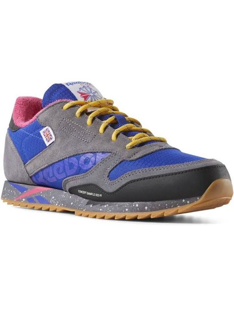 Item - Blue Gray Classic Leather Ripple Altered Sneakers Size US 5 Regular (M, B)