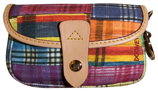 Item - Madras Plaid Multicolor Canvas Wristlet