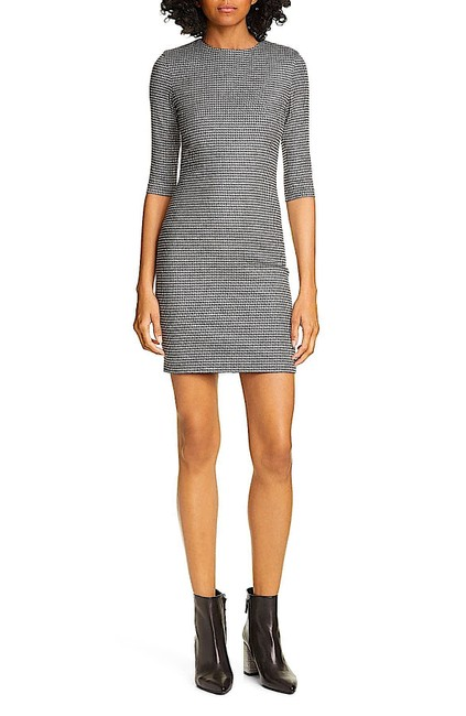 Item - White/Black New with Tag Delora Houndstooth Check Body-con Short Night Out Dress Size 8 (M)