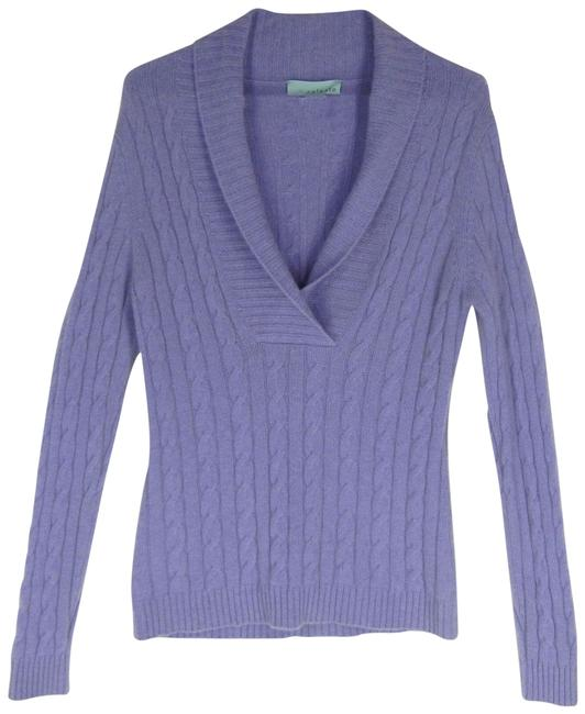 Item - Shawl Collar Cashmere Purple Sweater