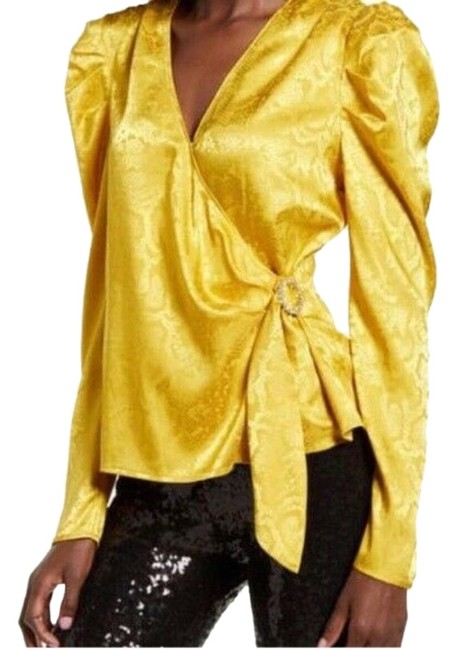 Item - Yellow Where Are You From Blouse Size 16 (XL, Plus 0x)