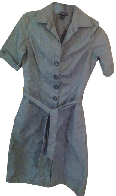 Item - Olive Green Mid-length Short Casual Dress Size 4 (S)