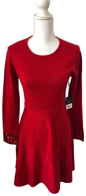 Jason Wu Red Mid-length Cocktail Dress Size 10 (M) Jason Wu Red Mid-length Cocktail Dress Size 10 (M) Image 1