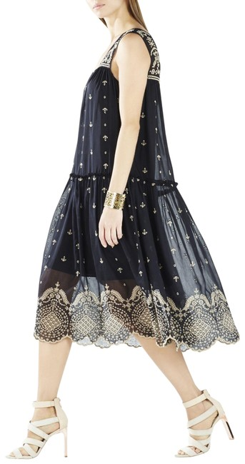 Item - Black Samantha Eyelet Embroidered Long Casual Maxi Dress Size 2 (XS)