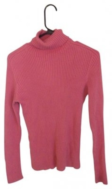 Preload https://item5.tradesy.com/images/new-york-and-company-pink-ribbed-turtleneck-sweaterpullover-size-10-m-27954-0-0.jpg?width=400&height=650