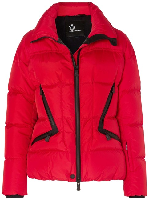 Item - Red Grenoble Dixence Quilted Down Jacket Coat Size 4 (S)
