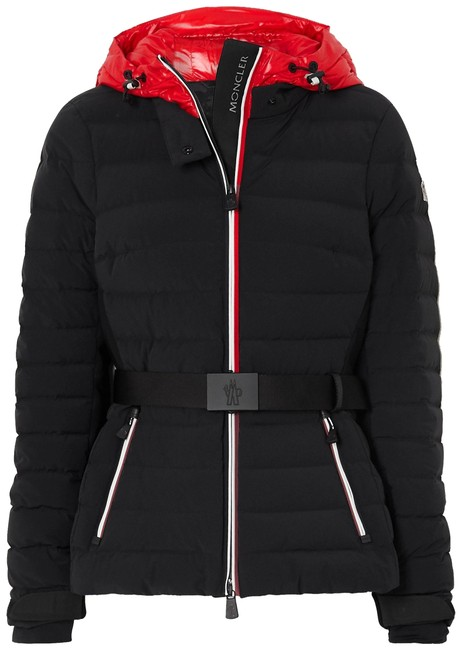 Moncler Black Grenoble Bruche Hooded Belted Quilted Shell Down Jacket Coat Size 2 (XS) Moncler Black Grenoble Bruche Hooded Belted Quilted Shell Down Jacket Coat Size 2 (XS) Image 1