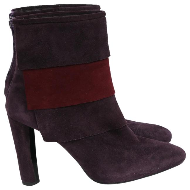 Item - Purple Burgundy Suede Pointed Toe Ankle Boots/Booties Size US 7.5 Regular (M, B)