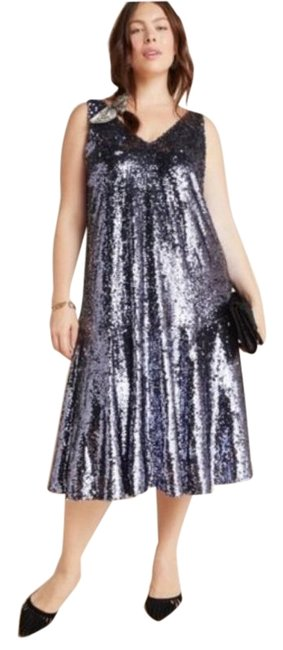 Item - Silver Sybil Sequined Mid-length Cocktail Dress Size 20 (Plus 1x)