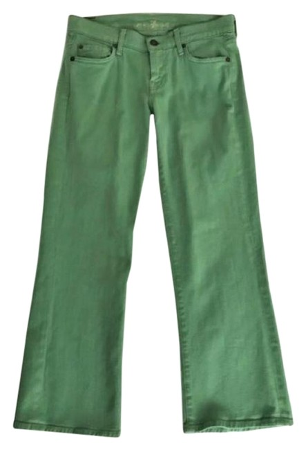 Item - Green Retro Bell Bottom Flare Leg Jeans Size 26 (2, XS)