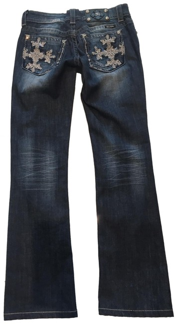 Item - Blue Dark Rinse Style: Jp5398b Boot Cut Jeans Size 27 (4, S)
