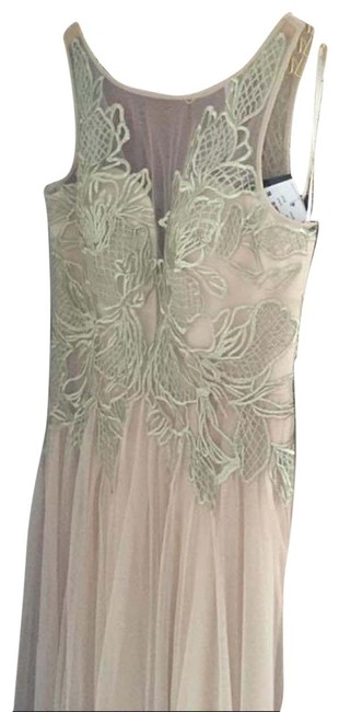 Item - Blush Evening Gown - and Gold Long Formal Dress Size 6 (S)
