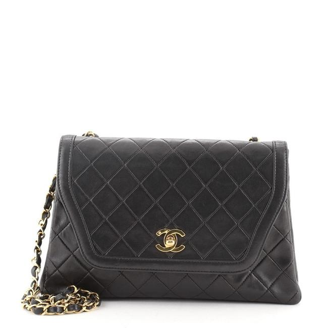 Chanel Classic Flap Vintage Trapezoid Cc Quilted Lambskin Medium Black Leather Shoulder Bag Chanel Classic Flap Vintage Trapezoid Cc Quilted Lambskin Medium Black Leather Shoulder Bag Image 1