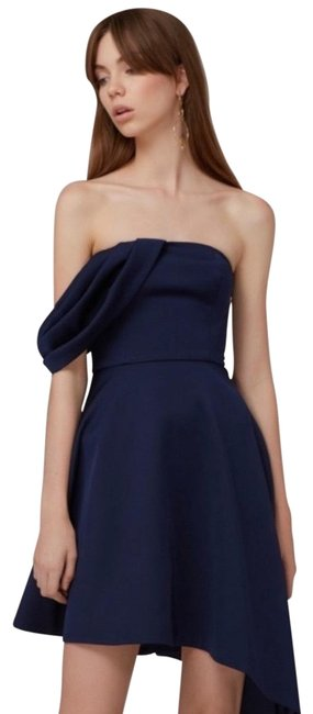 Item - Navy Blue Too Late Strapless Mini Short Cocktail Dress Size 2 (XS)