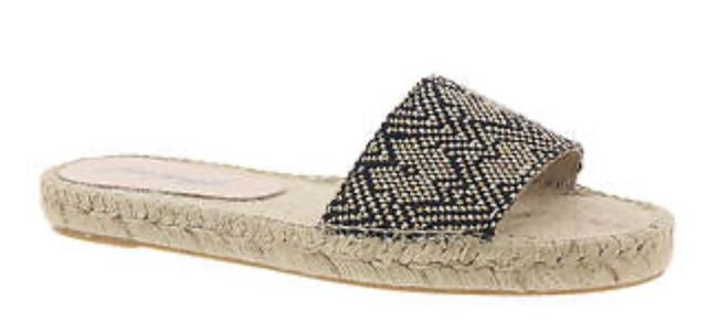 Item - Black/Beige Beach Front Espadrille/Sz:7/Nib Sandals Size US 7 Regular (M, B)