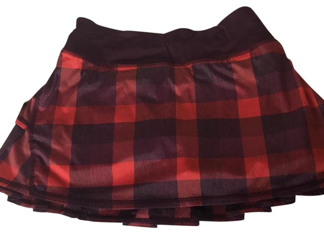 Item - Maroon Checkered Pace Rival Activewear Bottoms Size 4 (S)