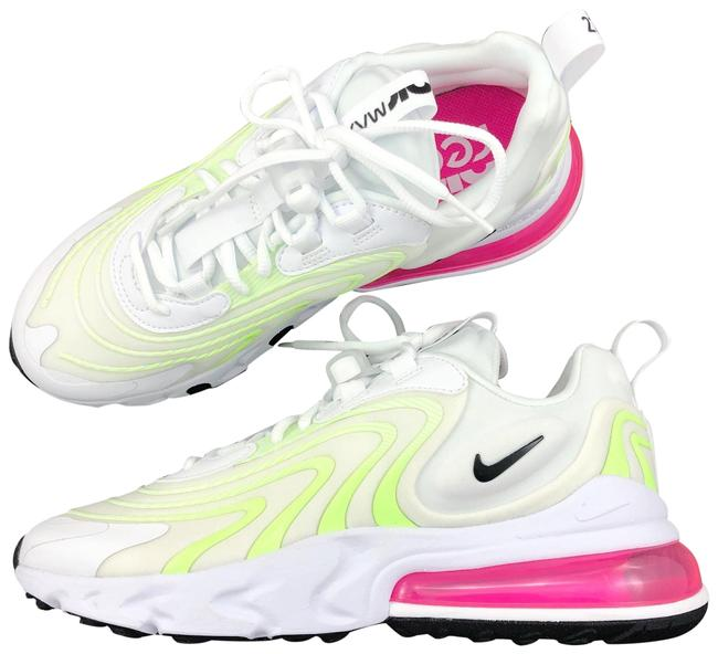 Item - White Women's Air Max 270 React Eng Ghost Green Technology Delivers An Extremely Smooth Ride Reduces Weight And Sneakers Size US 7 Narrow (Aa, N)