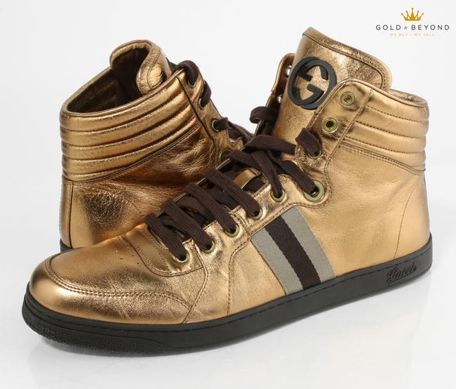 Item - Gold Exclusive High Top Sneakers Size 12g 325380 Shoes