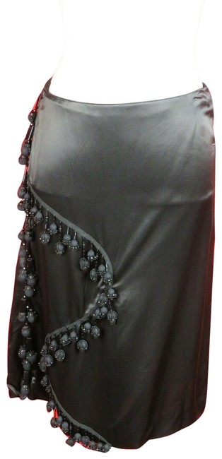 Item - Black Mg384r Viscose Jeweled Dress 38 Italy Skirt Size 2 (XS, 26)