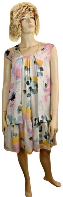 Item - Multicolor Cheapandchic Floral Silk Sleeveless Bow 40 Us It Mid-length Short Casual Dress Size 6 (S)