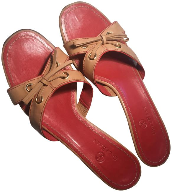 Item - Tan and Orange With Bow Sandals Size US 8 Regular (M, B)