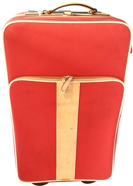 Item - Carry On Suitcase 5595 Red Polyester Weekend/Travel Bag