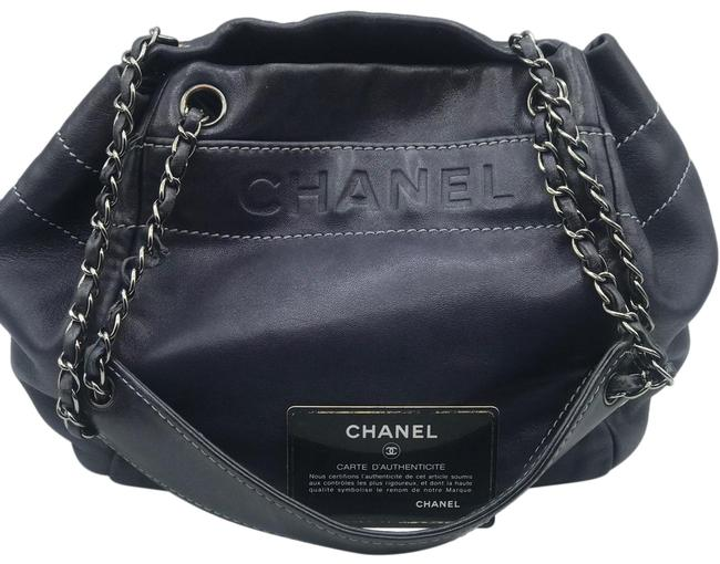 Item - Cc Logo Coco Black Silver Tone Chain Timeless Lambskin Leather Shoulder Bag
