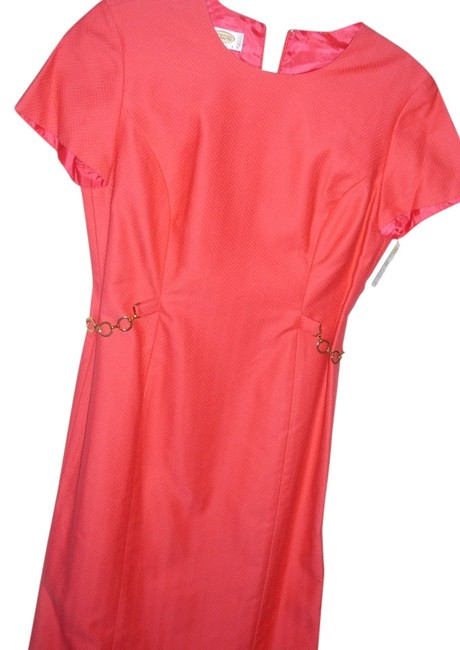 Preload https://item2.tradesy.com/images/talbots-textured-quality-fitted-career-bright-color-metal-chain-belt-knee-length-workoffice-dress-si-2795896-0-1.jpg?width=400&height=650
