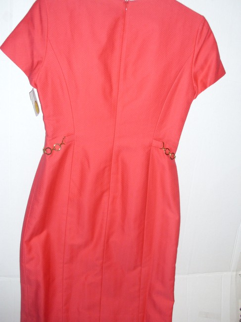 Talbots Tailored Fitted Sheath Bright Textured Dress