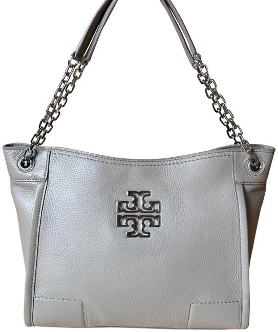 Item - Britten Slouchy French Gray Leather Tote