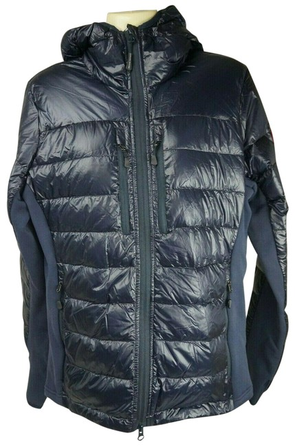 Item - Blue Navy Hybridge Lite Hooded Packable Down Women's Jacket Size 12 (L)