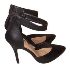 Forever 21 Pointed Toe Cuff Ankle Strap Black Pumps