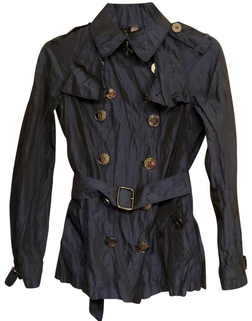 Item - Navy Crinkled Jacket Size 4 (S)