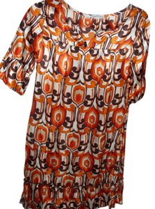 Velvet Torch short dress multicolor Paisley Artsy 80s Orange Brown on Tradesy