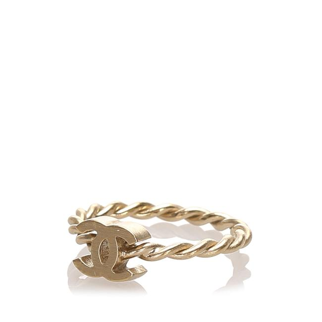 Chanel Gold Cc and Camellia Ring Chanel Gold Cc and Camellia Ring Image 1