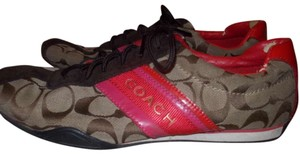 Coach Sneaker Flats Brown and pink Athletic