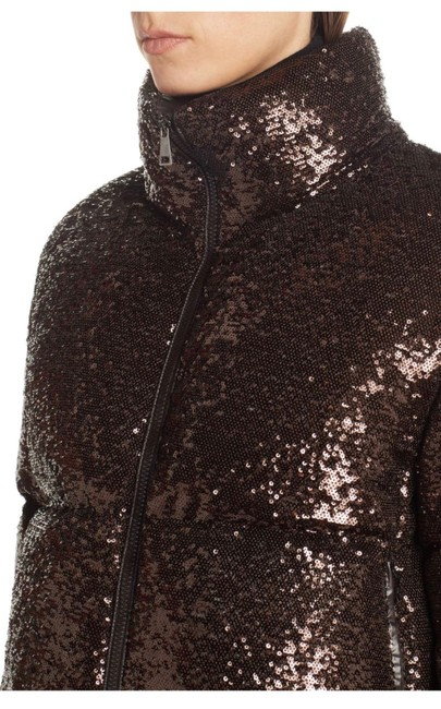 Moncler Brown Rimac Sequin Quilted Down Puffer Jacket Coat Size 2 (XS) Moncler Brown Rimac Sequin Quilted Down Puffer Jacket Coat Size 2 (XS) Image 2