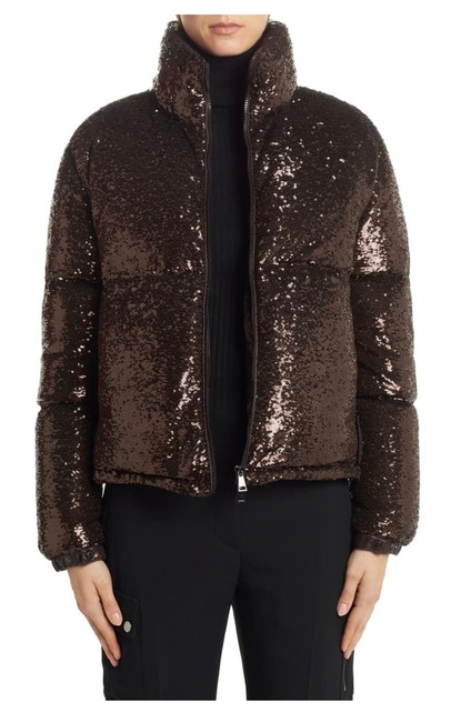 Moncler Brown Rimac Sequin Quilted Down Puffer Jacket Coat Size 2 (XS) Moncler Brown Rimac Sequin Quilted Down Puffer Jacket Coat Size 2 (XS) Image 3