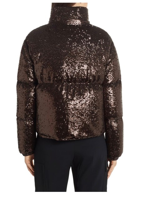 Moncler Brown Rimac Sequin Quilted Down Puffer Jacket Coat Size 2 (XS) Moncler Brown Rimac Sequin Quilted Down Puffer Jacket Coat Size 2 (XS) Image 4