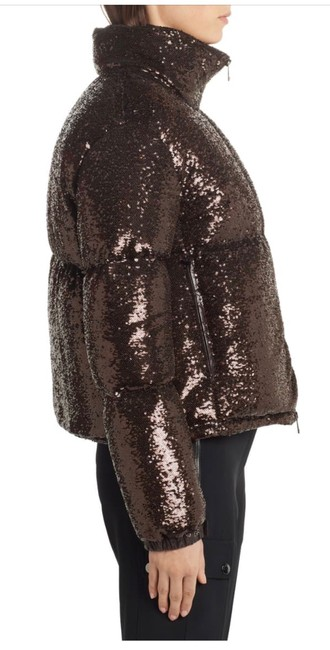 Moncler Brown Rimac Sequin Quilted Down Puffer Jacket Coat Size 2 (XS) Moncler Brown Rimac Sequin Quilted Down Puffer Jacket Coat Size 2 (XS) Image 5