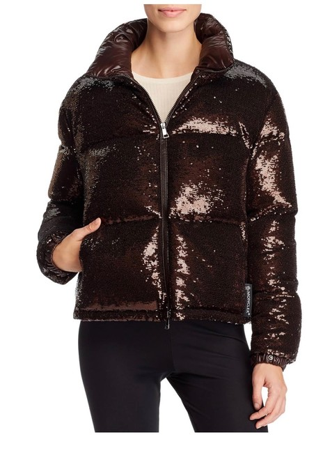 Moncler Brown Rimac Sequin Quilted Down Puffer Jacket Coat Size 2 (XS) Moncler Brown Rimac Sequin Quilted Down Puffer Jacket Coat Size 2 (XS) Image 6
