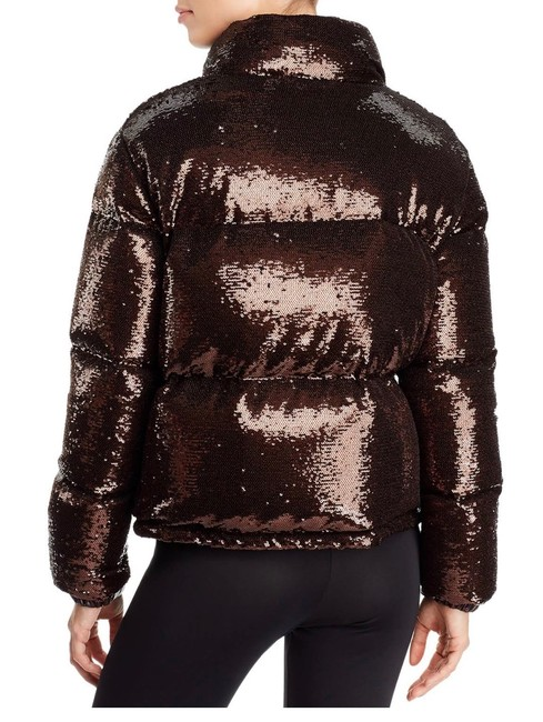 Moncler Brown Rimac Sequin Quilted Down Puffer Jacket Coat Size 2 (XS) Moncler Brown Rimac Sequin Quilted Down Puffer Jacket Coat Size 2 (XS) Image 8