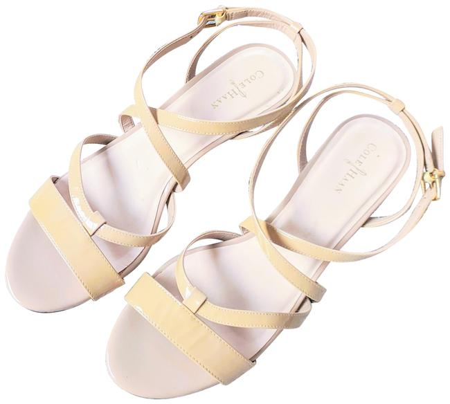 Item - Nude Strappy Wedges Sandals Size US 8.5 Regular (M, B)
