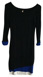 Bailey 44 short dress Black/Royal Blue/White on Tradesy