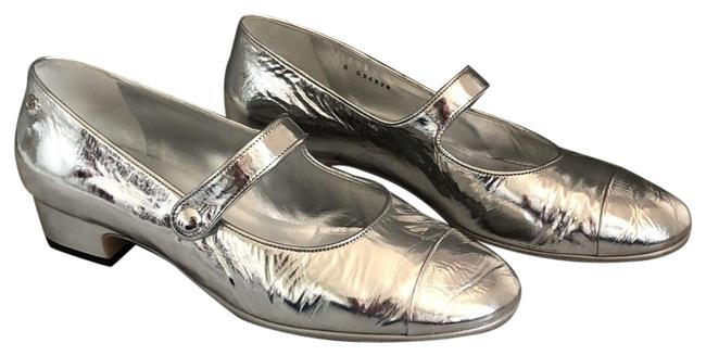 Item - Silver Mary Janes Pumps Size EU 39.5 (Approx. US 9.5) Regular (M, B)