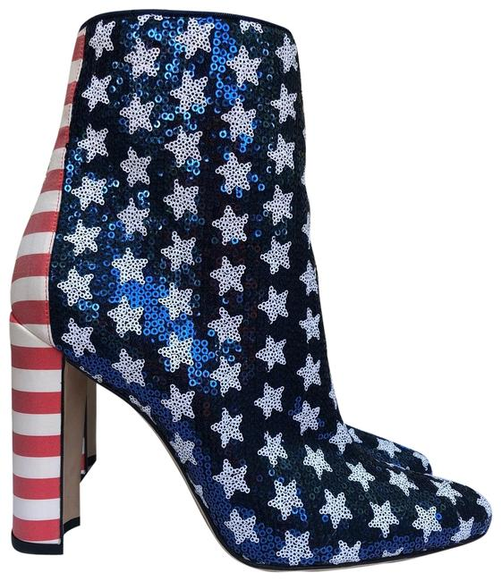 Item - Red White Blue Nancy Boots/Booties Size EU 38 (Approx. US 8) Regular (M, B)